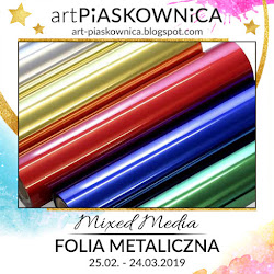 MIXED MEDIA - folia metaliczna