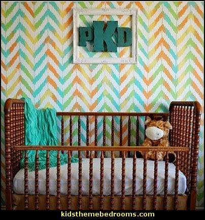 Zig-Zag Stencil  zig zag bedroom decorating ideas - Zig Zag wall decals - Chevron bedroom decorating ideas - zig zag wallpaper mural - zig zag decor - Chevron ZIG ZAG print - Herringbone Stencil - chevron bedding - zig zag rugs -