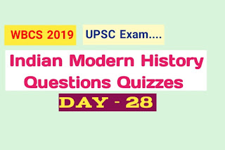 Indian Modern History Questions Quizzes