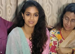 Keerthy Suresh with her Lovely Mother Latest Image