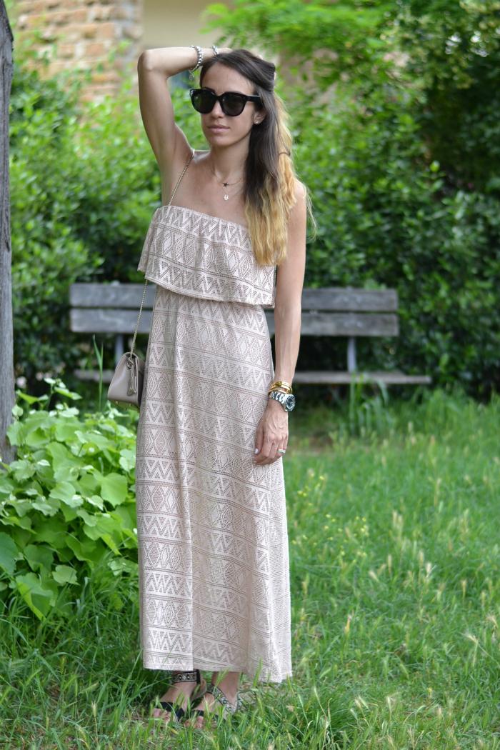 abito lungo crochet