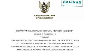 Download PKPU RI Nomor 6 Tahun 2019