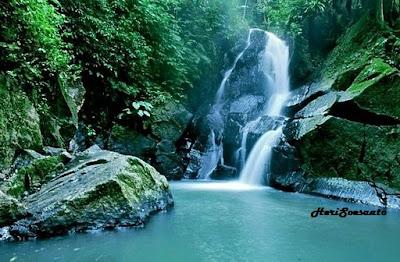 pria laot waterfall, sabang