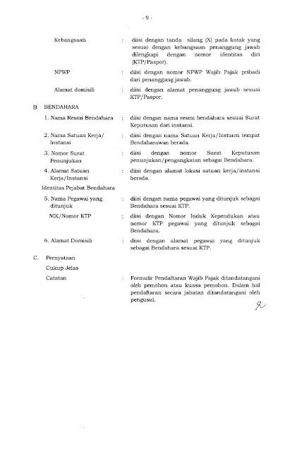 Petunjuk pengisian form NPWP Badan hal 2