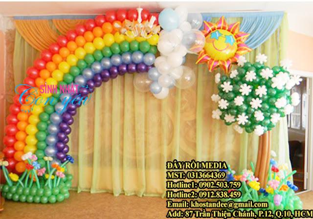 làm backdrop cổng chào bằng bong bóng tại tphcm