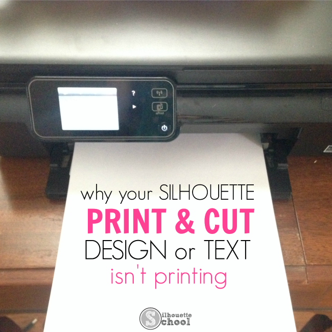 Silhouette Studio fix, Silhouette Studio tip, text, print and cut