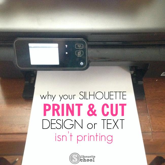 Silhouette Studio fix, Silhouette Studio tip, text, print and cut