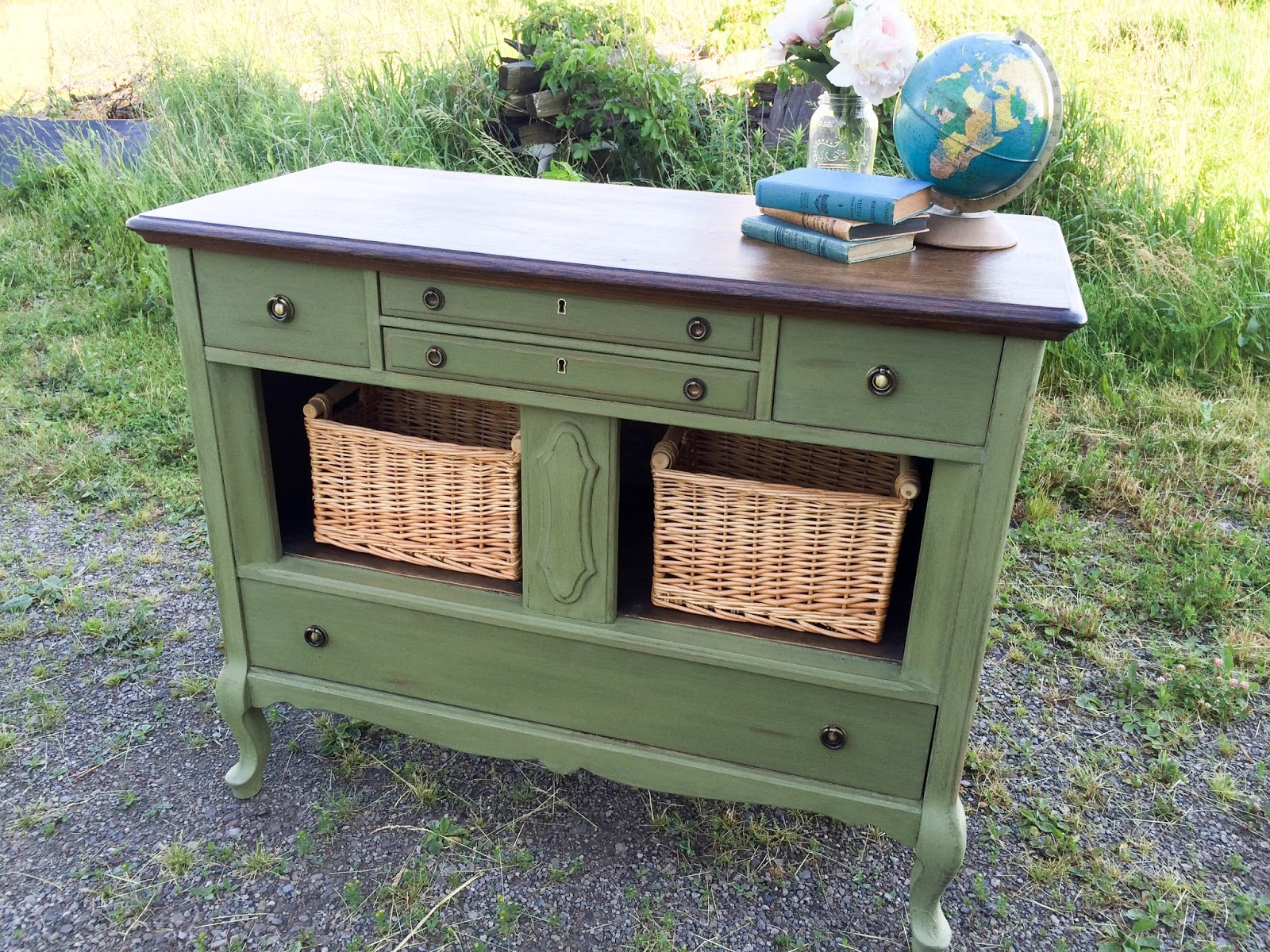 laurel 39 s attic bayberry green antique buffet sold. Black Bedroom Furniture Sets. Home Design Ideas