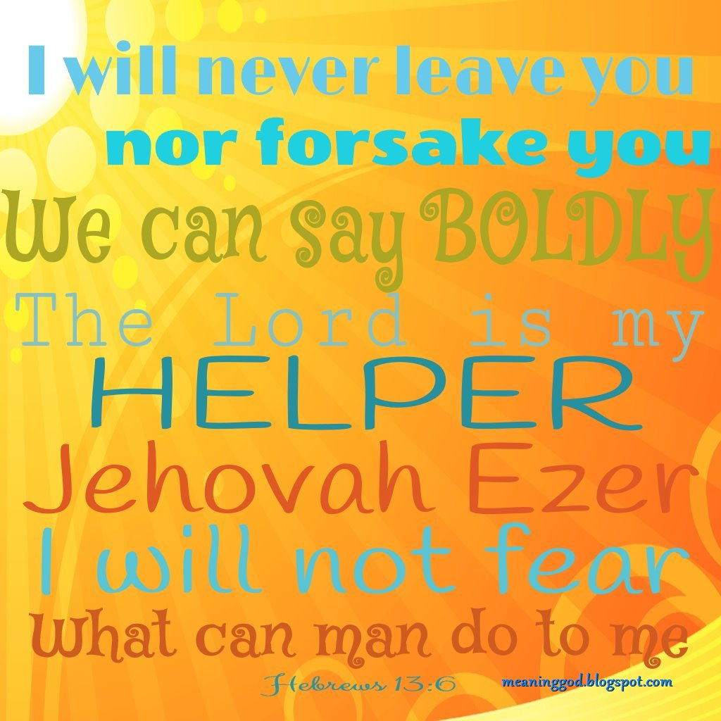 Drawing near to God: Jehovah Ezer The Lord is my Help!