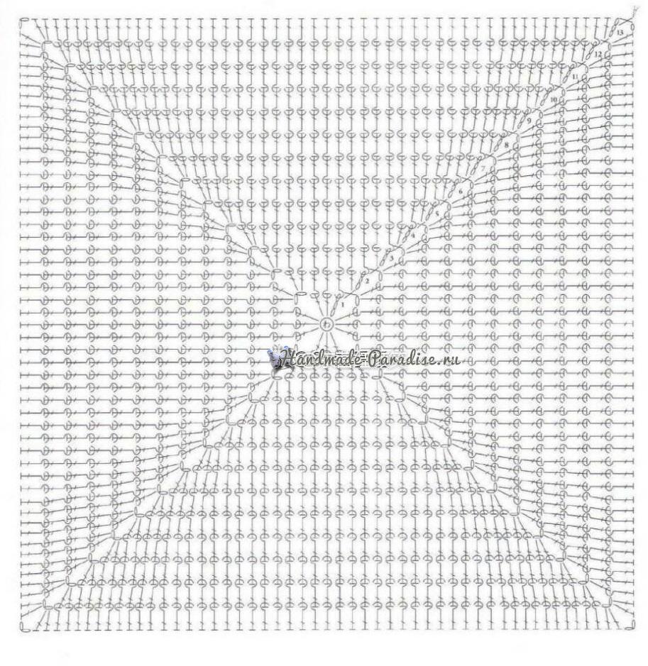 Схемы вязания двухсторонней подушки - сидушки для стула (3)