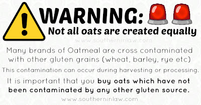 Warning Oats Contaminated with Gluten