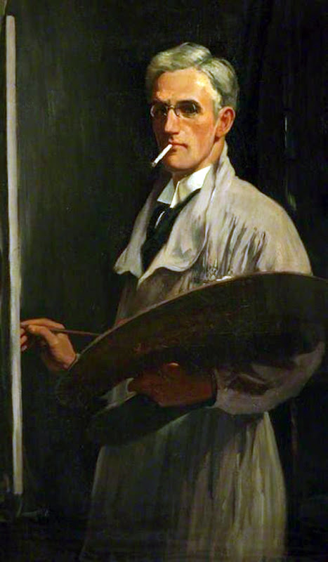 David Prophet Ramsay, International Art Gallery, Portrait of Vera, Self Portrait