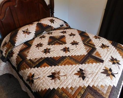 Log Cabin Autumn Splendor Quilt