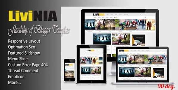 Livinia Responsive Blogger Template