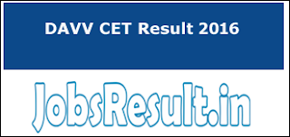 DAVV CET Result 2016