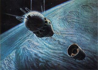 Quadro di Sokolov: la capsula Vostok in orbita.