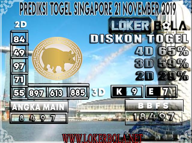 PREDIKSI TOGEL SINGAPORE LOKERBOLA 21 NOVEMBER 2019