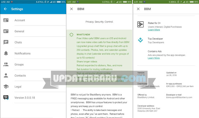 download Update BBM Official Versi 3.0.0.18 Apk Terbaru For Android