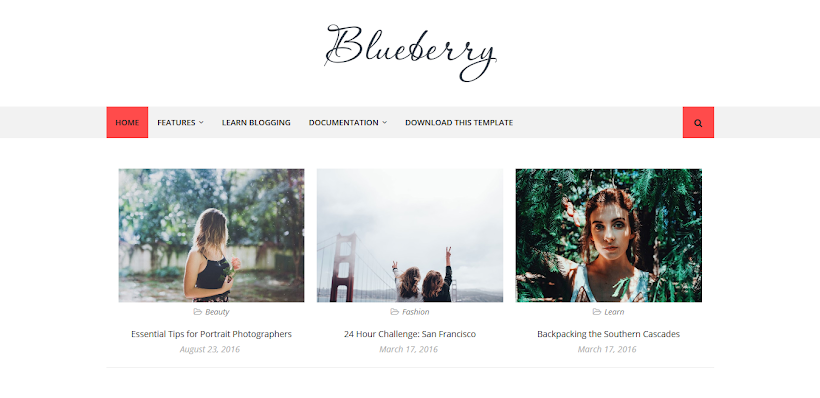 Blueberry Free Blogger Template