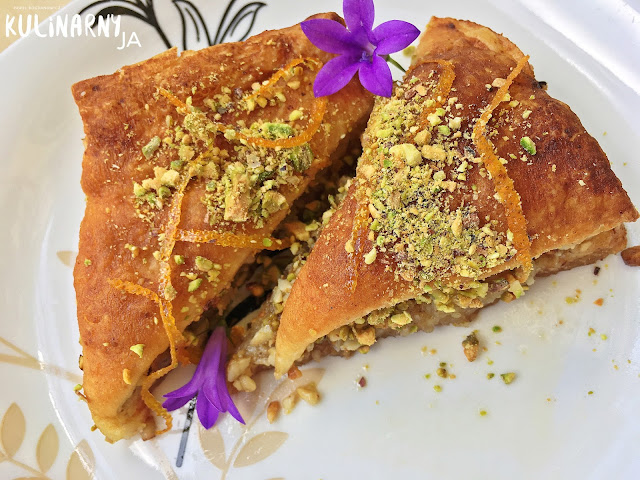 Baklava grecka w aromacie pomarańczy