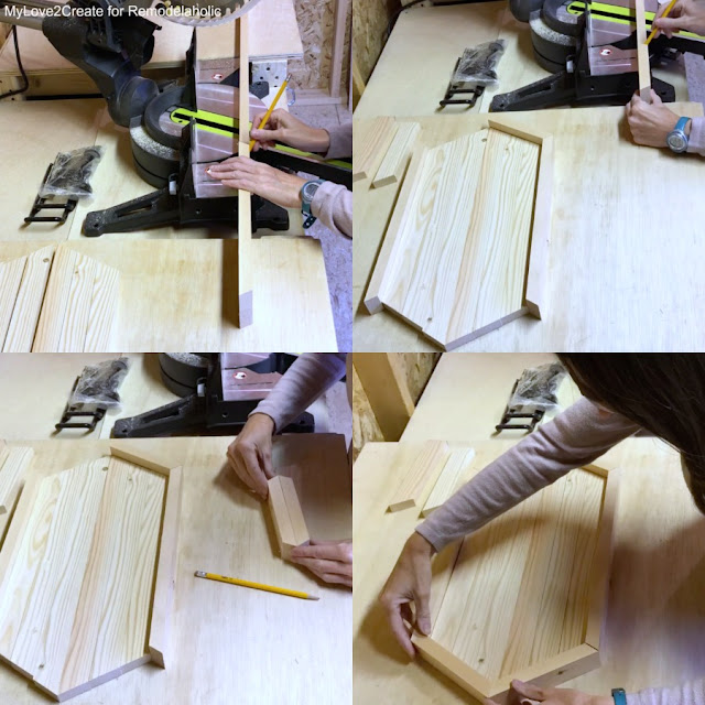 how to get perfect cuts for a framed tray