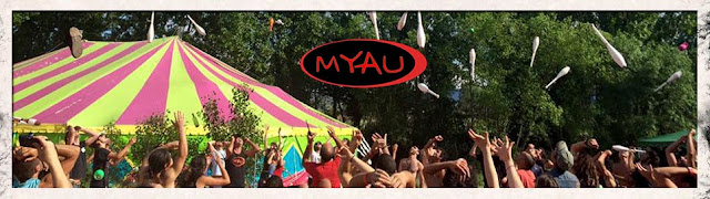 Banner foto carpa y logo de MYAU