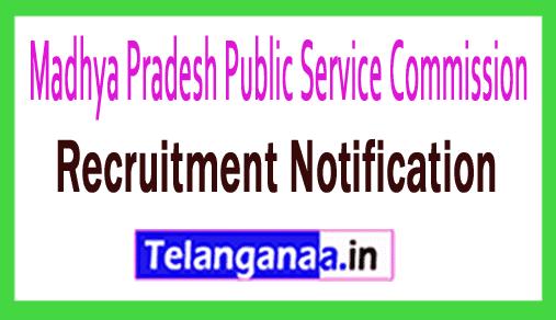 Madhya Pradesh Public Service Commission MPPSC Recruitment Notification