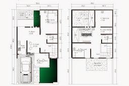 Top Contoh Denah Rumah tipe 90 berlantai 2