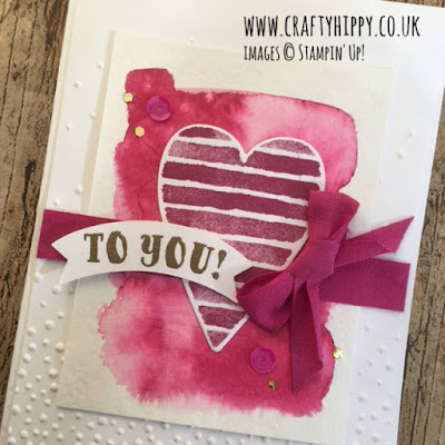 Make beautiful heart-themed cards for Valentine's Day and birthdays using the Heart Happiness Stamp Set from Stampin' Up!