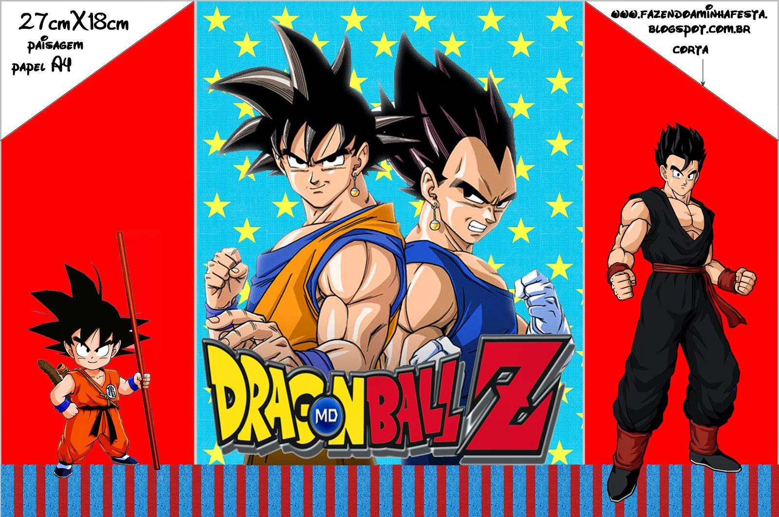 Dragon Ball Z: Invitaciones para Imprimir Gratis. | Ideas y material ...
