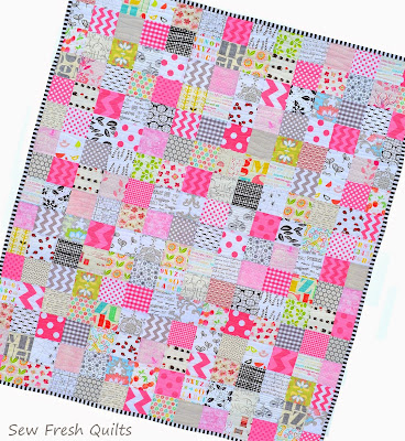 http://sewfreshquilts.blogspot.ca/2015/02/pretty-in-pink-patchwork-baby-quilt.html
