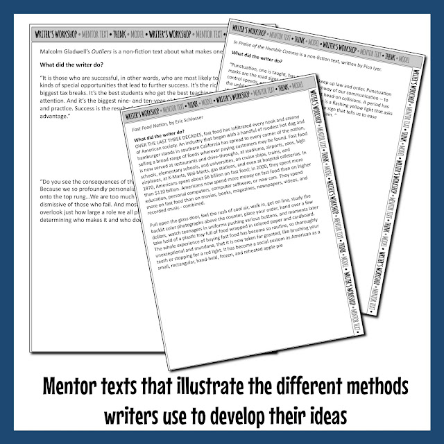 Mentor texts help secondary students learn better writing techniques