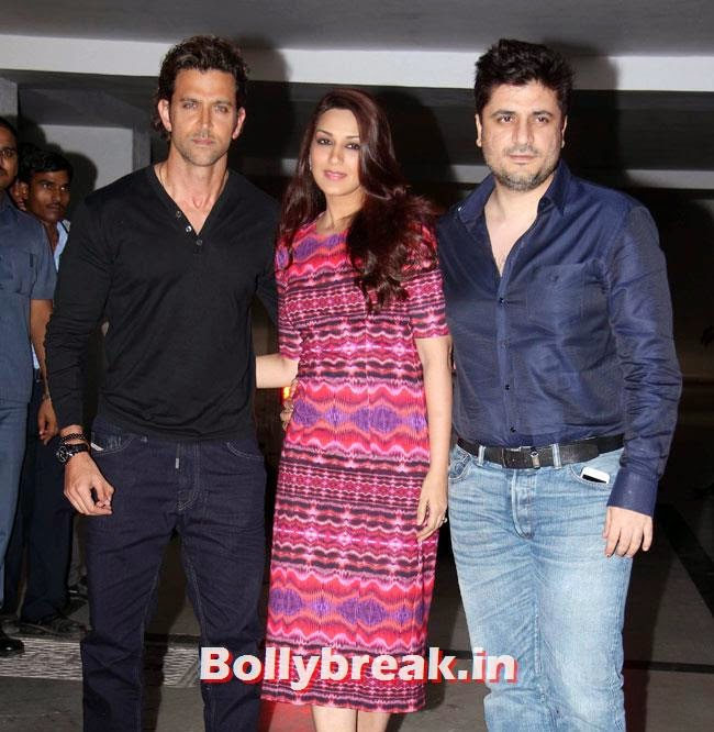 Hrithik Roshan, Sonali and Goldie Behl, Karan Johar Birthday Party Pics 2014