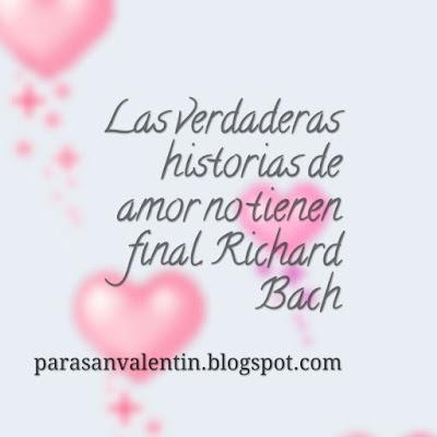 Las verdaderas historias de amor no tienen final.