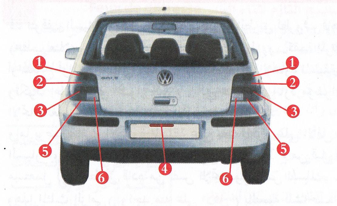 اضواء السيارة الامامية والخلفية و وظائفها الكود الجزائري