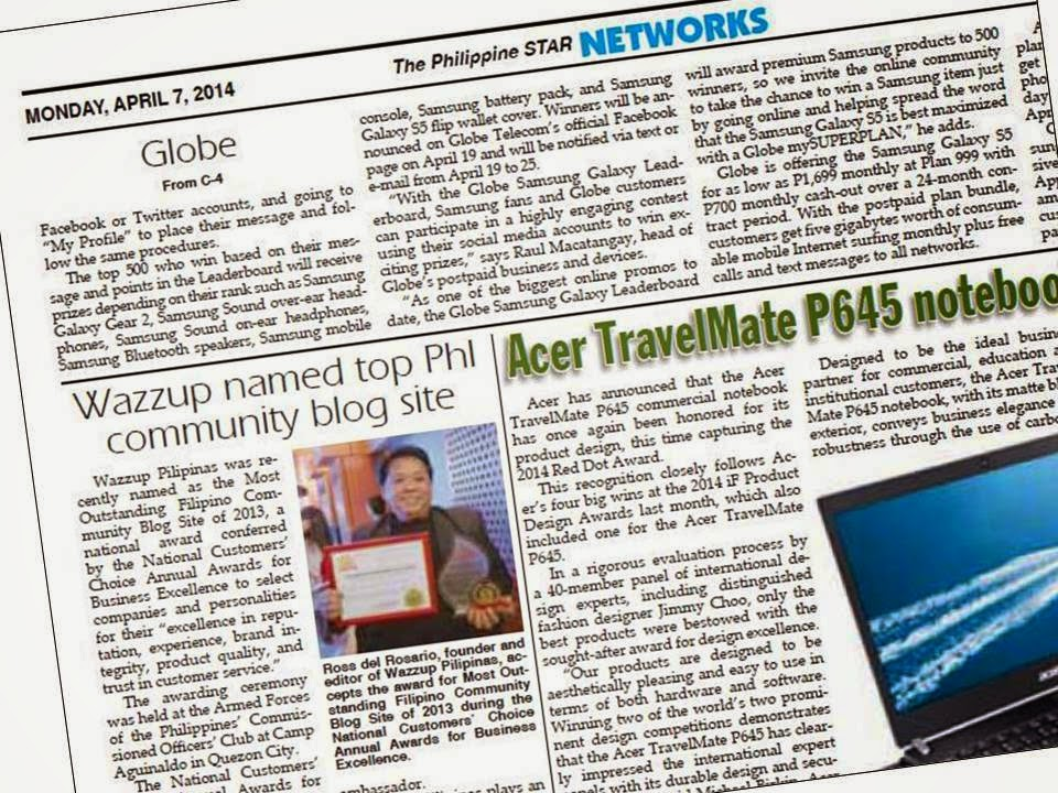 Wazzup Pilipinas Featured in Philippine Star as Top PHL ...