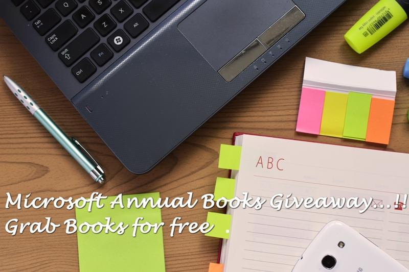 microsoft ebook giveway 2017 free