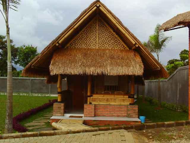 Contoh Gambar Rumah Antik Konstruksi Bambu Blog Interior