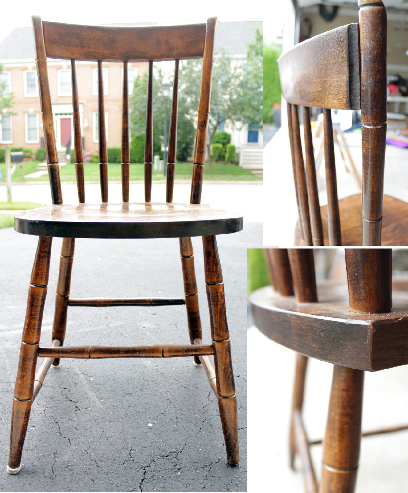 Spray Painted Chairs - Remodelando la Casa