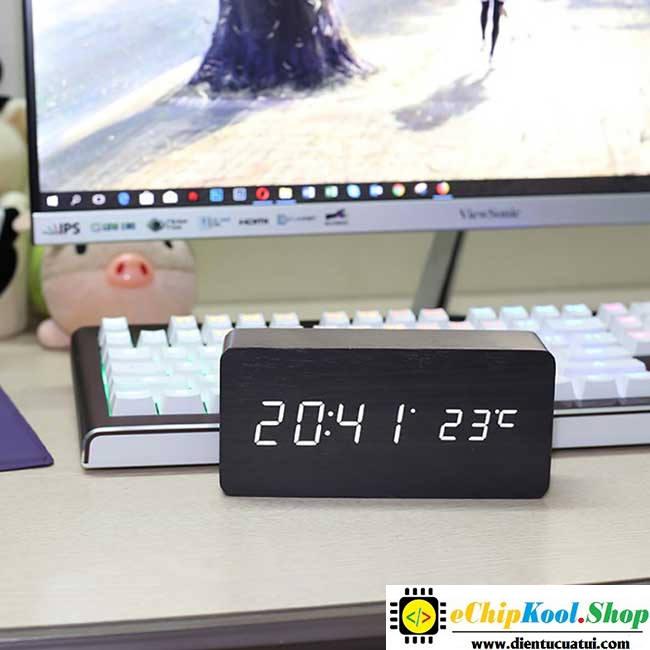 Hướng dẫn sử dụng đồng hồ Gỗ LED để bàn và cách cài đặt ChipKool