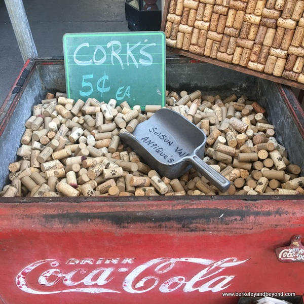 wine corks for sale at Suisun Valley Antiques & Collectibles in Fairfield, California