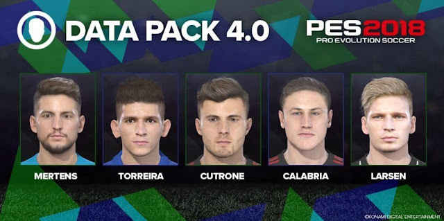 Data Pack 4.0 Faces PES 2018