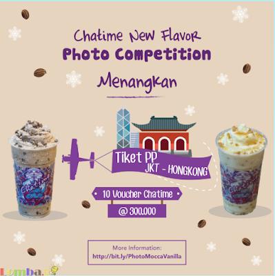 Lomba Foto Chatime New Flavor Competetion Hadiah Tiket Jakarta Hongkong