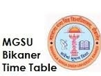 MGSU Bikaner Time Table 2017
