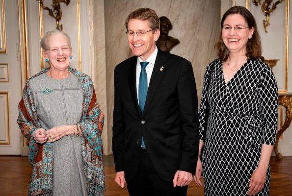 Queen Margrethe II received German Schleswig-Holstein's State Premier Daniel Guenther and his wife Anke Guenther at Amalienborg Palace