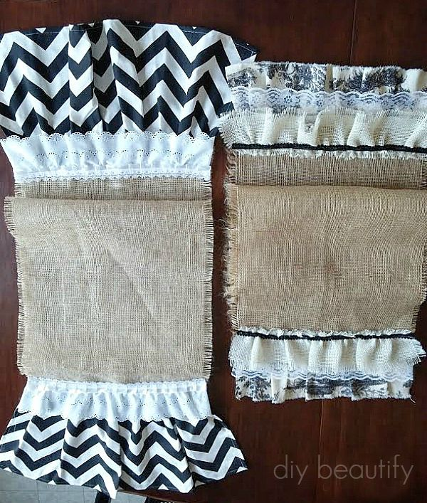burlap table runners