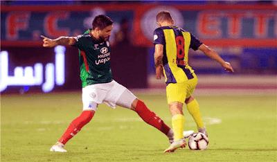 فيديو.. وليد أزارو يصنع هدفًا والاتفاق يخسر أمام الحزم في الدوري السعودي