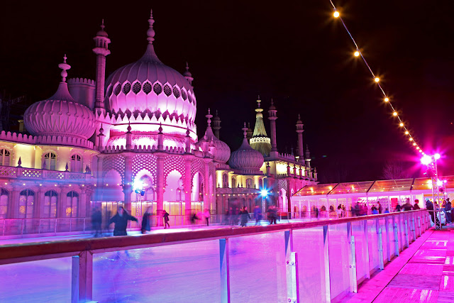 Ice Skating at Brighton Dome - Christmas Lights Photo tips and techniques - Ashley Laurence
