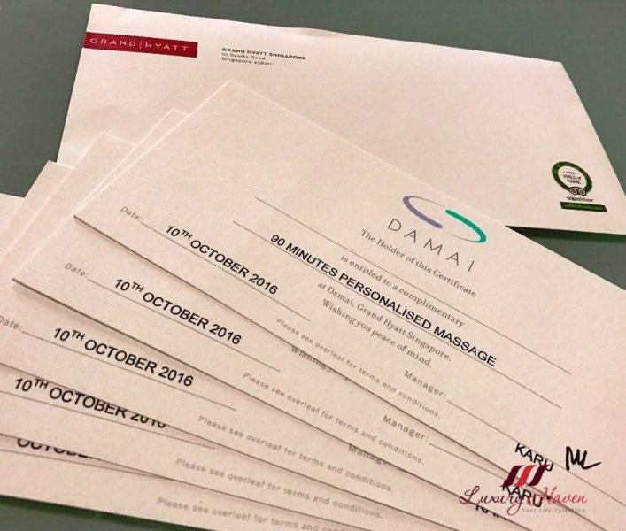 grand hyatt singapore damai spa massage review
