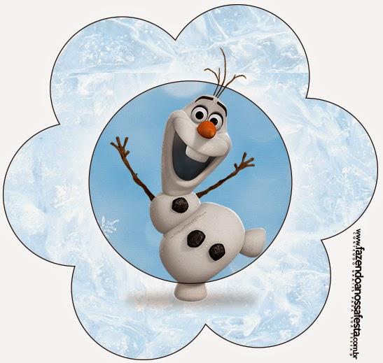 Tarjeta con forma de Flor de Olaf.
